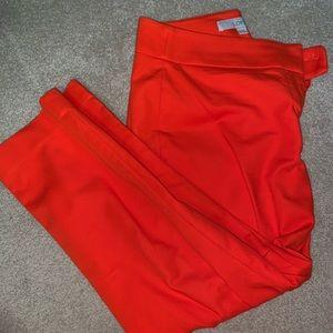 Loft size 4p orange ankle pants